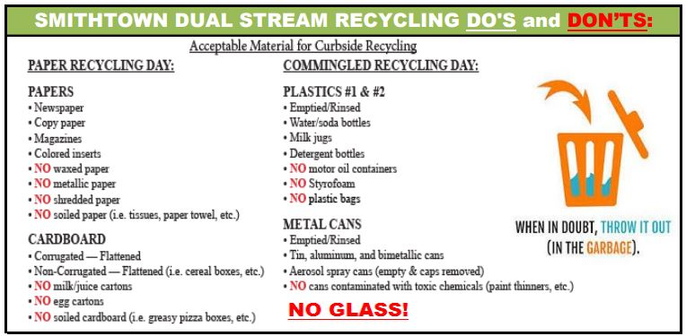 Recycling Dos and Donts flyer