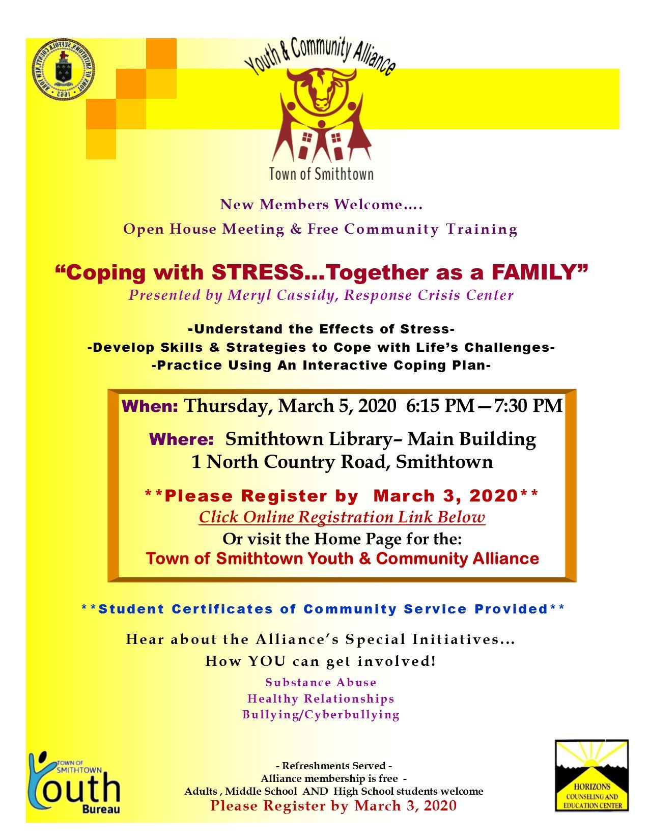 Y  C Alliance Flyer March 5 meeting